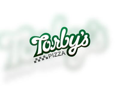 Pizzaria Branding hand drawn italian pizza brand logo