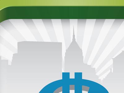 Part Deux mobile app icon loading qr code city money reward 3d