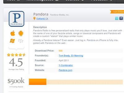 9Startups Profile nav icons platform mobile rating funding social search startups