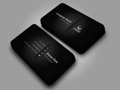 Elegant Black Business Card business card design template business card template businesscard elegant business card business card black business card design business card black business card black