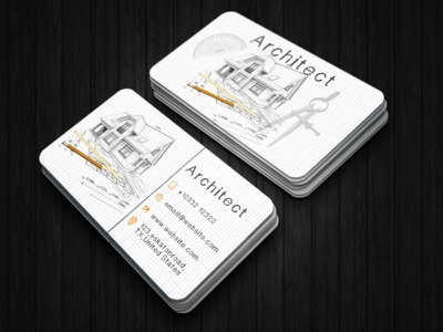 Creative Architect Business Card architectural architectural design architecture website architect card design architect business card architecture design elegant business card business cards business card template business card design business card businesscard