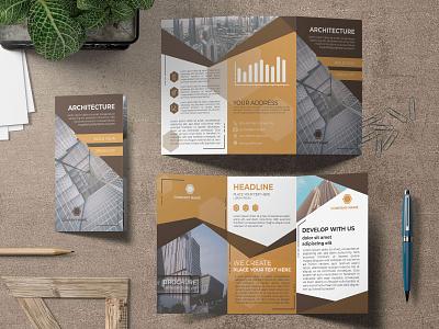 Elegant Architectural Firm Flyer Design trifold template trifold brochure trifold tri fold brochure architecture design architecture elegant trifold architectural firm brochure