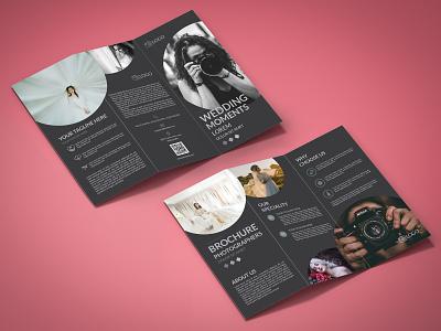 Photographer Tri-Fold Brochure Design Template tri fold brochure tri fold trifold mockup trifold template trifold brochure photography trifold photographers photographer