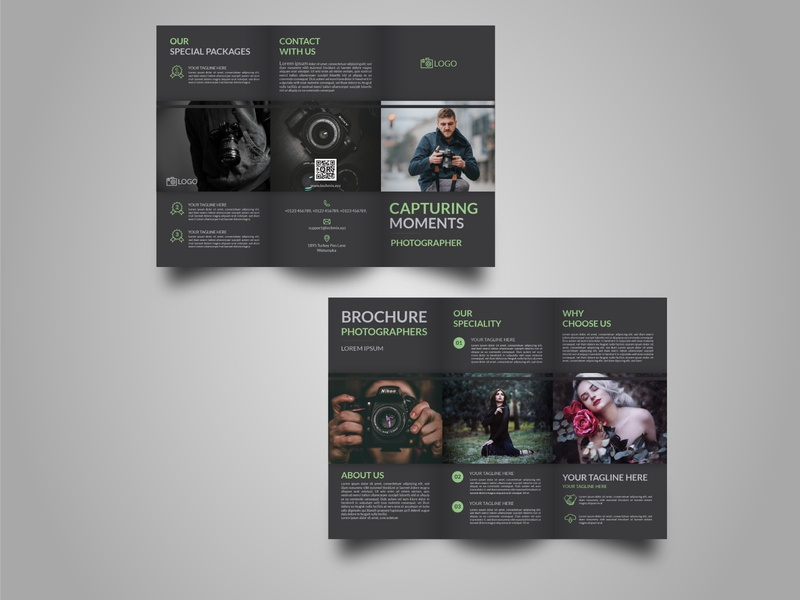 Event Photography Tri Fold Brochure Template