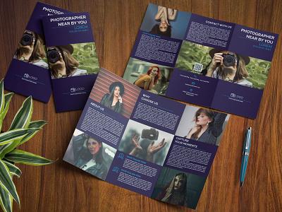 Photographer Tri Fold Brochure Template tri fold brochure trifold brochure brochure design brochure trifold tri fold photograph wading photo photographer photography