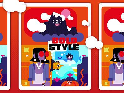 Bold style - Holiday funny comic art webdesign card illustrator illustration vector art holiday card