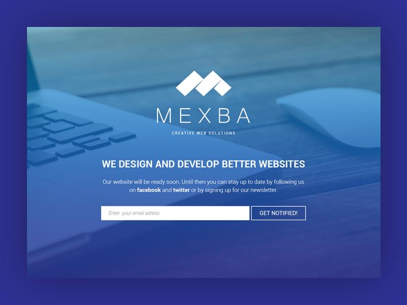 Mexba splash page