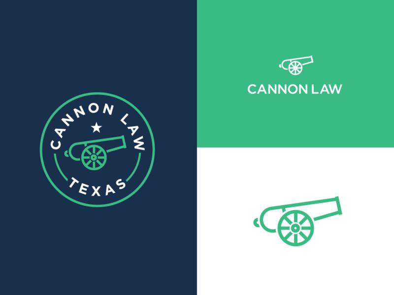 Cannon Law Texas badge branding modern identity firm brand legal logo lawyer law attorney