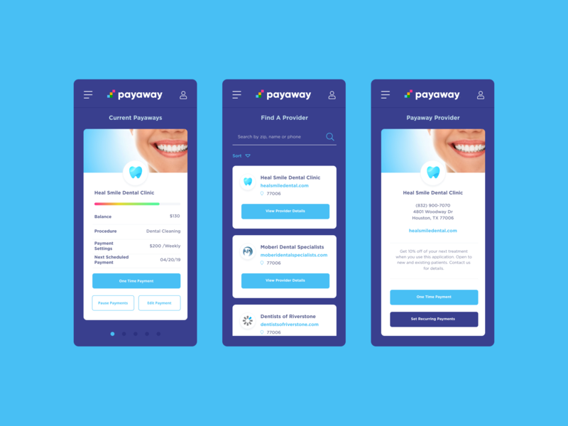 Payway figma web ui blue purple violet mobile software pay app payment