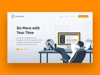 Immigration Software Landing Page