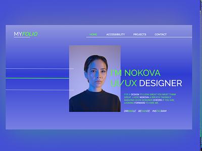 portfolio ux website typography branding ui design