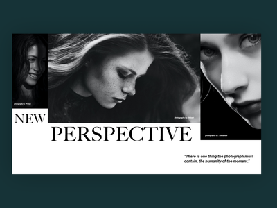 Breathe - A photography company uiux webdesign web typography
