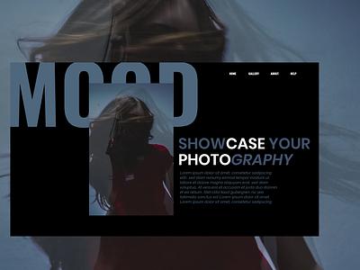 Web landing page for photography. branding black web website ui ux typography design