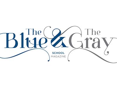 Blue & Gray masthead sketch nameplate magazine