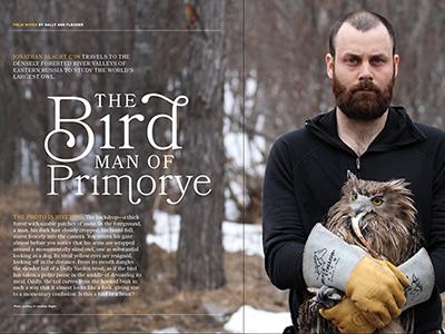 The Bird Man magazine feature editorial