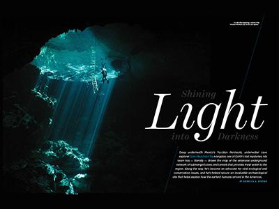 Shining Light magazine feature editorial