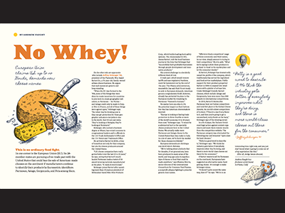 No Whey! editorial magazine feature