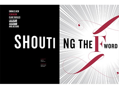 Shouting the F Word magazine feature editorial
