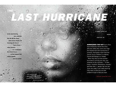 The Last Hurricane magazine feature editorial