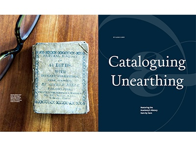 Cataloguing & Unearthing editorial feature magazine