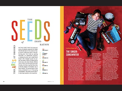 The Arts @ Brooks magazine feature editorial