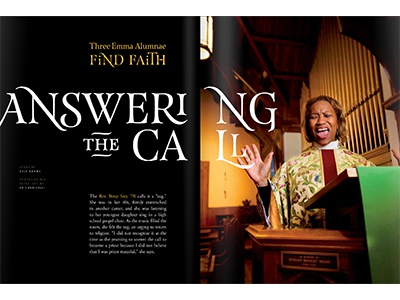 Answering the Call editorial feature magazine