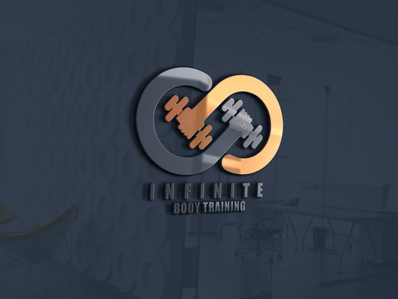 Infinite Body Training athlete logo fitness fitness logo gym gym logo illustration minimalist vector logo illustrator branding