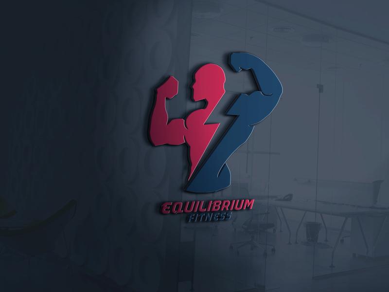 Equilibrium Fitness gym fitness gym logo fitness logo illustration minimalist typography vector logo illustrator branding