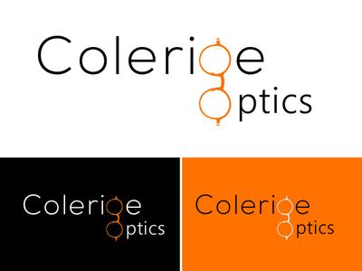 Colerige optics luxury logo modern logo glasses logo optics logo minimalist typography logo vector illustrator branding