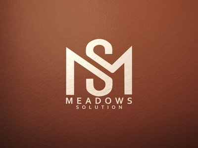 Meadows Solution initial logo symbolic logo monogram monogram logo illustration minimalist typography logo vector illustrator branding