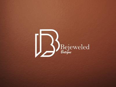 Bejeweled Boutique handlettering clothing logo clothing line clothing brand minimalist typography vector logo illustrator branding