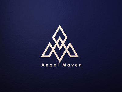 Anngel Maven initial logo symbol icon monogram logo handlettering clothing logo clothing line clothing brand minimalist typography vector logo illustrator branding