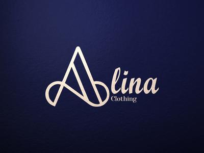 Alina Clothing symbolic logo monogram logo a monogram a logo clothing logo clothing line clothing brand minimalist typography vector logo illustrator branding