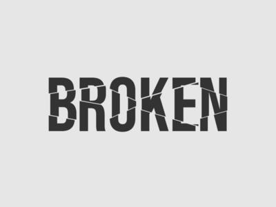 Broken Logo wordmark logo broken logo minimalist typography logo vector illustrator branding