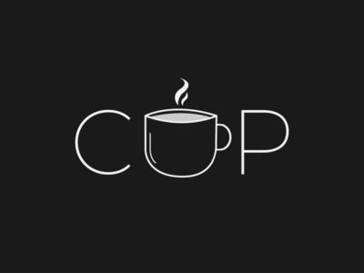 Cup Logo cafe logo cup logo logo design design minimalist typography vector logo illustrator branding