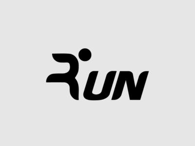 Run Logo running logo run logo minimalist typography vector logo illustrator branding