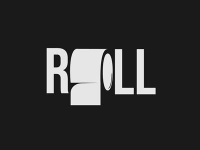 Roll Logo roll logo handlettering minimalist typography vector logo illustrator branding