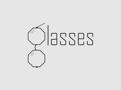 Glasses Logo glasses logo glasses logo design minimalist typography vector logo illustrator branding