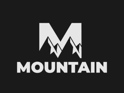 Mountain Logo mountain logo mountain bike minimalist typography vector logo illustrator branding