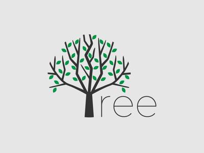 Tree Logo tree tree logo handlettering minimalist typography logo vector illustrator branding