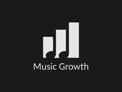 Music Growth tune logo growth logo music logo logo design design typography vector logo illustrator branding