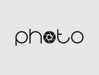 Photo Logo photography camera logo photo logo typography minimalist logo vector illustrator branding