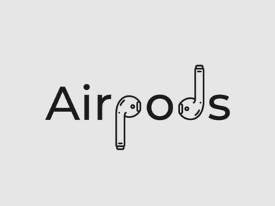 Airpods Logo mobile logo airpods logo airpods wordmark logo minimalist typography vector logo illustrator branding