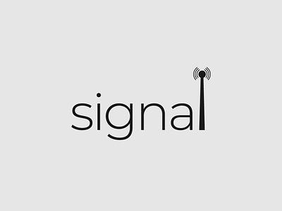 Signal Logo design wordmark logo logo designer logo design minimalist illustrator typography vector branding logo
