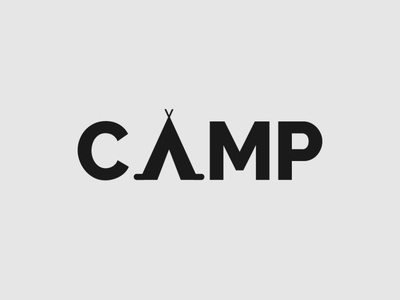 Camp logo camping logo camping camp handlettering wordmark logo logo designer logo design minimalist typography illustrator vector logo branding