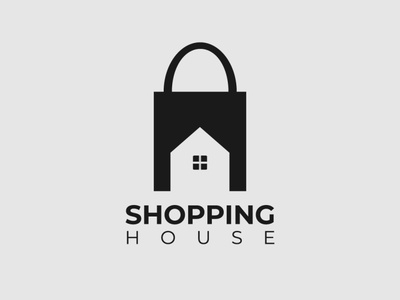 Shopping House Logo house logo shopping logo wordmark logo logo designer logo design design minimalist typography illustrator vector logo branding