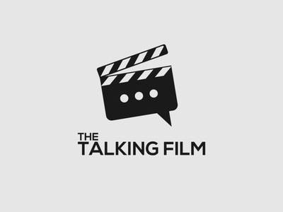 The Talking Film film film logo talking wordmark logo logo designer logo design design minimalist typography logo vector branding