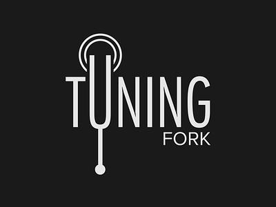 Tuning Fork Logo tuning wordmark logo wordmark design logo design minimalist illustrator logo branding