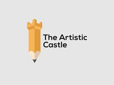 The Artistic Castle art logo brand designer branding logo design logo designer wordmark logo design minimalist typography logo castle logo