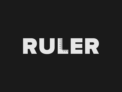 Ruler Logo logo challenge logo concept brand design brand identity ruler wordmark logo logo designer design logo design typography logo branding
